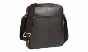 Dungeness Black Leather Man Bag