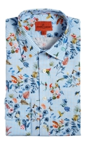Short Sleeve  - Floral Gingham Shirt
