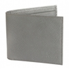 Jeans Wallet Grey Saffiano Leather