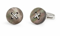 Cufflinks  - Savile Row Button Grey MOP Cufflinks