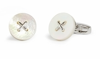 Cufflinks  - Savile Row Button MOP Cufflinks