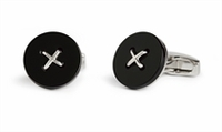Cufflinks  - Savile Row Button Onyx Cufflinks