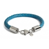 Turquoise Leather Bracelet Stainless