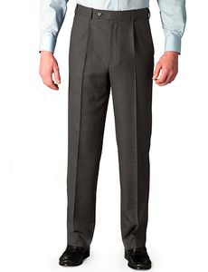 Clothing  - Traditional Woolblend Trouser With Stretch Waist