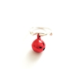 Rings RED BAUBLE BELL CHRISTMAS RING:  Handmade by Kat&Bee Jewellery