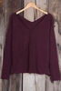 Cupshe Wandering Souls Wine V Neck Top
