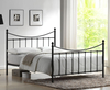 Acton Small Double 4ft Black Metal Bed