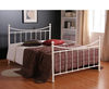 Acton Small Double 4ft Ivory Metal Bed
