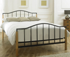 Alexis Small Double 4ft Beech and Black Bed