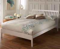 Small Double Frame  - Ananke Small Double 4ft White Bed