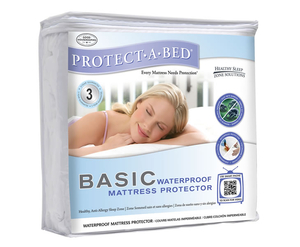 Duvets, Blankets & Bedspreads  - Anti-Allergenic Waterproof Small Double 4ft Mattress Protector