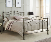 Small Double Frame  - Ashley Black Nickel Small Double 4ft Metal Bed