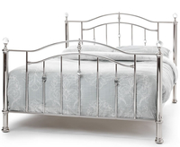 Small Double Frame  - Ashley Nickel Small Double 4ft Metal Bed