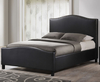 Bassett Small Double 4ft Black Faux Leather Bed