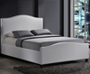 Bassett Small Double 4ft White Faux Leather Bed