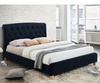 Catterick 4ft Midnight Blue Fabric Upholstered Bed