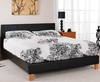 Cervaro Small Double 4ft Black Faux Leather Bed