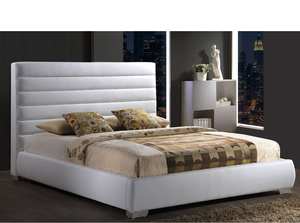Small Double Frame  - Chantry Small Double 4ft White Faux Leather Bed
