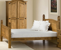 Small Double Frame  - Charlbury 4ft High Foot End Pine Bed