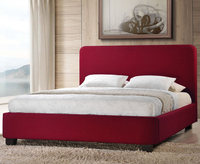 Small Double Frame  - Corsica Small Double 4ft Red Fabric Upholstered Bed
