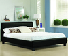 Easton Small Double 4ft Black Faux Leather Bed