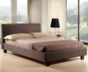 Easton Small Double 4ft Brown Upholstered Bed