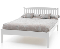 Small Double Frame  - Eleanor Hevea White Small Double Low Foot End 4ft Bed 4ft bed