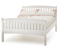 Small Double Frame  - Eleanor Small Double 4ft High Foot End White Wooden Bed 4ft bed