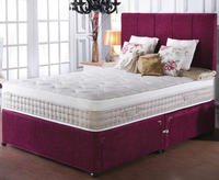 Divan Beds  - Elle Small Double 4ft 2000 Pocket Spring and Latex Divan Set no drawers stone finish headboard - no thank you