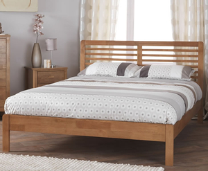 Small Double Frame  - Esther Small Double 4ft Honey Oak Wooden Bed