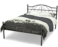 Small Double Frame  - Exmoor Small Double 4ft Black Metal Bed Frame