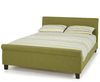 Henri Small Double 4ft Olive Upholstered Bed