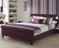 Henri Small Double 4ft Plum Upholstered Bed
