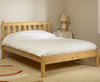 Kansas Shaker Small Double 4ft Pine Bed natural finish
