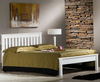Kennedy 4ft Shaker Ivory Wooden Bed