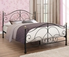 Milano Small Double 4ft Black Metal Bed *Special Offer*