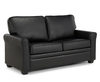 Naples 112cm Black Faux Leather Sofa Bed