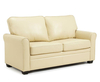 Naples 112cm Cream Faux Leather Sofa Bed