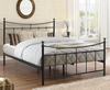Robinson Small Double 4ft Black Metal Bed