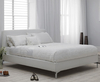 Ronco Small Double 4ft White Faux Leather Bed