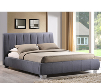 Small Double Frame  - Ruxley Small Double 4ft Grey Upholstered Bed