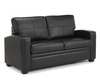 Turin Black Faux Leather 112cm Sofa Bed