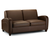 Vivo 4ft Chestnut Brown Faux Leather Pull-Out Sofa Bed
