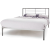 Zeus Black Nickel Small Double 4ft Metal Bed