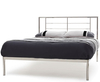 Zeus Nickel Small Double 4ft Metal Bed