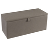 Abbey Fossil Grey Upholstered Ottoman assembly - no thank you