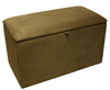 Chests Alexandria Faux Leather and Suede Ottoman faux leather charolais