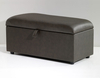 Anadia 135cm Faux Leather and Suede Ottoman faux leather black