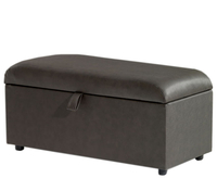 Chests  - Anadia 90cm Upholstered Ottoman turin navy