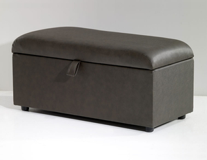Chests  - Anadia Faux Leather and Suede Ottoman small ottoman faux leather black